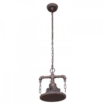 Подвесной светильник Lussole Loft Troy LSP-9678, IP21, 1xE27x60W, коричневый, металл - миниатюра 2