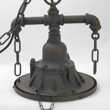 Подвесной светильник Lussole Loft Troy LSP-9678, IP21, 1xE27x60W, коричневый, металл - миниатюра 3