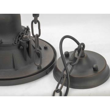 Подвесной светильник Lussole Loft Troy LSP-9678, IP21, 1xE27x60W, коричневый, металл - миниатюра 4