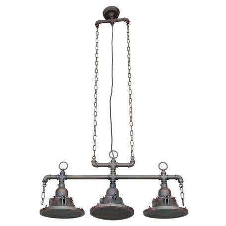 Подвесной светильник Lussole Loft Troy LSP-9679, IP21, 3xE27x60W, коричневый, металл
