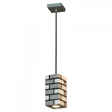 Подвесной светильник Lussole Loft Mount Vernon LSP-9684, IP21, 1xGU10x50W, серый, металл - миниатюра 2