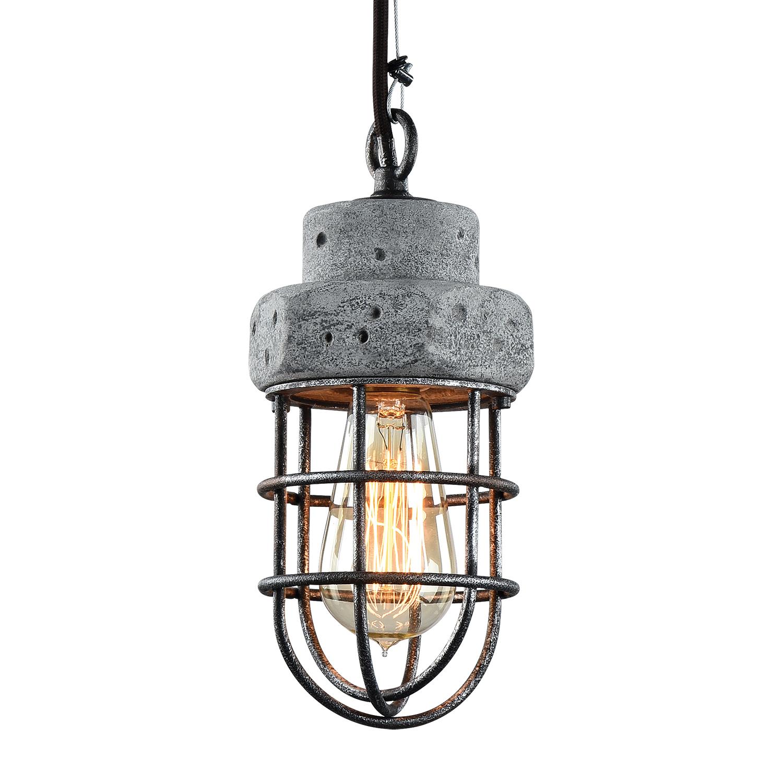 Подвесной светильник Lussole Loft Commack LSP-9691, IP21, 1xE27x60W, серый, металл, бетон - фото 1