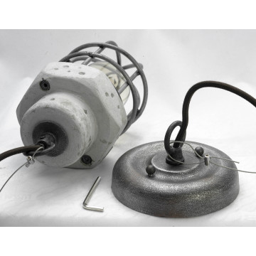 Подвесной светильник Lussole Loft Commack LSP-9691, IP21, 1xE27x60W, серый, металл, бетон - миниатюра 4