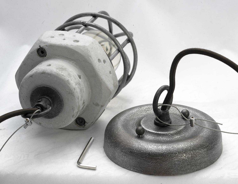 Подвесной светильник Lussole Loft Commack LSP-9691, IP21, 1xE27x60W, серый, металл, бетон - фото 4