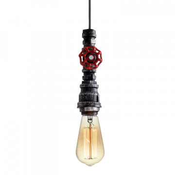 Подвесной светильник Lussole Loft Irondequoit lsp-9692, IP21, 1xE27x60W, серый, металл