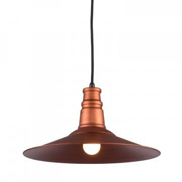 Подвесной светильник Lussole Loft Massapequa LSP-9697, IP21, 1xE27x60W, медь, металл