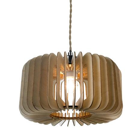 Подвесной светильник Lussole Loft Ossining LSP-9832, IP21, 1xE27x60W, серый, коричневый, металл, дерево