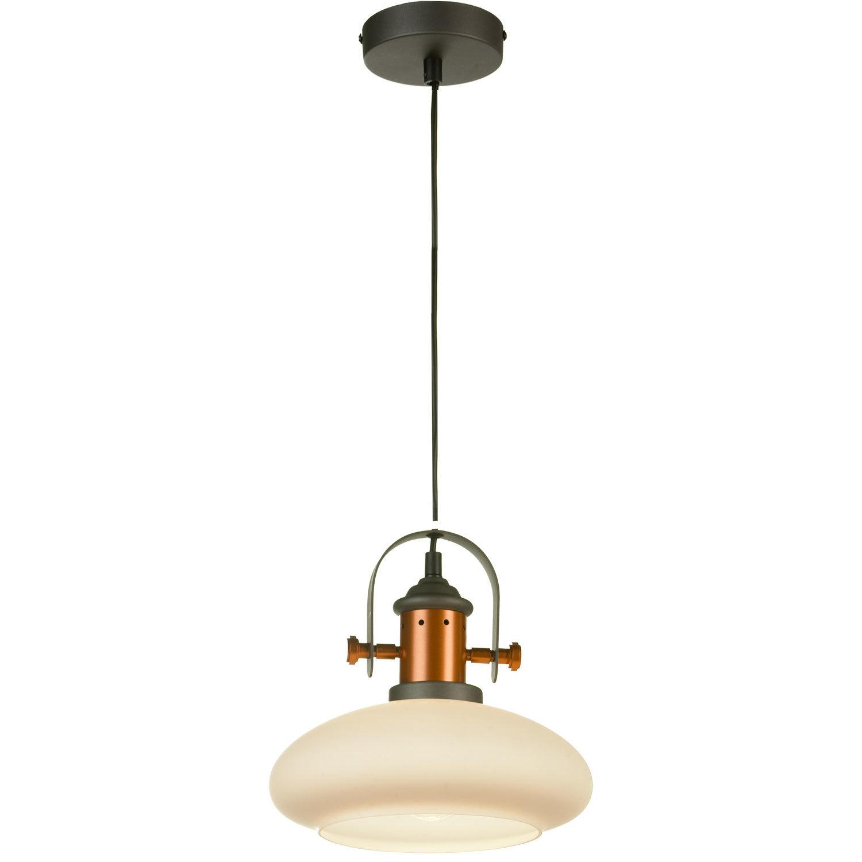 Подвесной светильник Lussole Loft Binghamton LSP-9845, IP21, 1xE27x60W, черный, белый, металл, стекло - фото 2