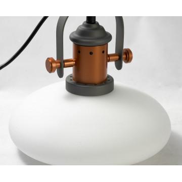 Подвесной светильник Lussole Loft Binghamton LSP-9845, IP21, 1xE27x60W, черный, белый, металл, стекло - миниатюра 3