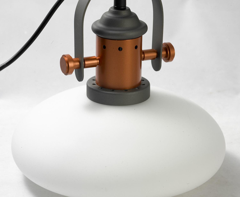 Подвесной светильник Lussole Loft Binghamton LSP-9845, IP21, 1xE27x60W, черный, белый, металл, стекло - фото 3