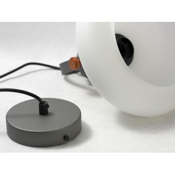 Подвесной светильник Lussole Loft Binghamton LSP-9845, IP21, 1xE27x60W, черный, белый, металл, стекло - миниатюра 4