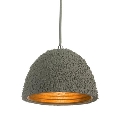 Подвесной светильник Lussole Loft Lindenhurst LSP-9855, IP21, 1xE27x60W, серый, металл, бетон - миниатюра 1