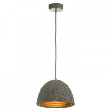 Подвесной светильник Lussole Loft Lindenhurst LSP-9855, IP21, 1xE27x60W, серый, металл, бетон - миниатюра 2