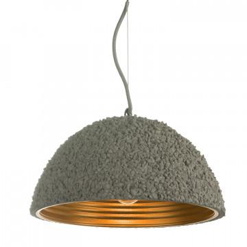 Подвесной светильник Lussole Loft Lindenhurst LSP-9856, IP21, 1xE27x60W, серый, металл, бетон