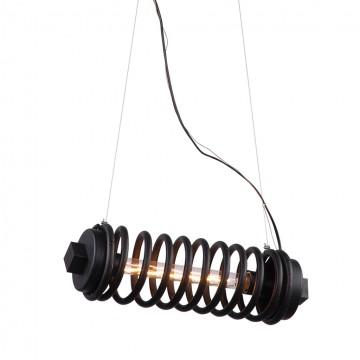 Подвесной светильник Lussole Loft Uniondale LSP-9341, IP21, 1xE27x60W, черный, металл