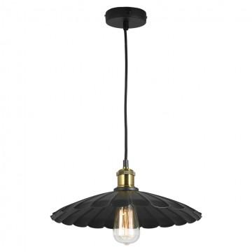 Подвесной светильник Lussole Loft New York LSP-9602, IP21, 1xE27x60W, черный, металл
