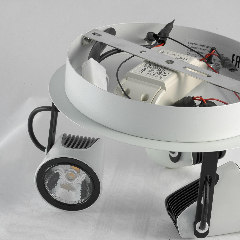 Потолочная люстра с регулировкой направления света Lussole Loft Merano LSN-4101-03 - фото 3