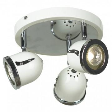 Потолочная люстра с регулировкой направления света Lussole Loft Tivoli LSN-3117-03, IP21, 3xGU10x50W, белый, хром, металл