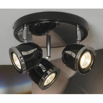 Потолочная люстра с регулировкой направления света Lussole Loft Tivoli LSN-3127-03, IP21, 3xGU10x50W, черный, металл