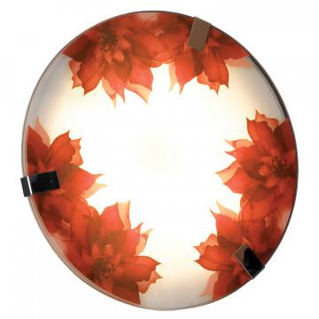Потолочный светодиодный светильник Lussole Cascano LSN-5252-01, IP21, LED 12W 4000K, хром, белый, красный, металл, стекло