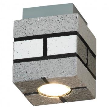 Потолочный светильник Lussole Loft Mount Vernon LSP-9686, IP21, 1xGU10x50W, серый, металл
