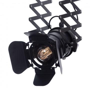 Потолочный светильник с регулировкой направления света на складной штанге Lussole Loft Thornton LSP-9702, IP21, 1xE27x60W, черный, металл - миниатюра 2