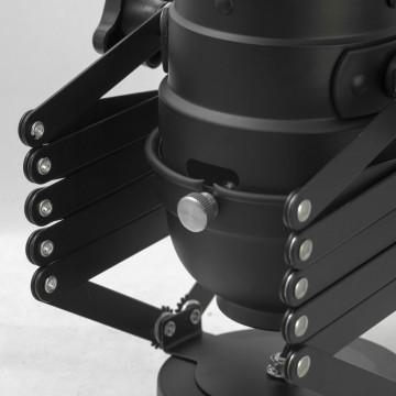 Потолочный светильник с регулировкой направления света на складной штанге Lussole Loft Thornton LSP-9702, IP21, 1xE27x60W, черный, металл - миниатюра 7