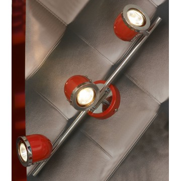 Потолочный светильник с регулировкой направления света Lussole Loft Tivoli LSN-3101-03, IP21, 3xGU10x50W, красный, металл