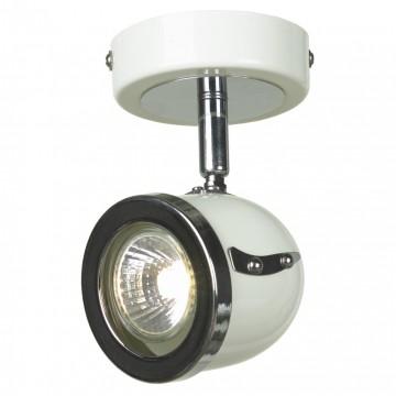 Настенный светильник с регулировкой направления света Lussole Loft Tivoli LSN-3111-01, IP21, 1xGU10x50W, белый, хром, металл