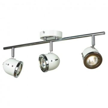Потолочный светильник с регулировкой направления света Lussole Loft Tivoli LSN-3111-03, IP21, 3xGU10x50W, белый, хром, металл