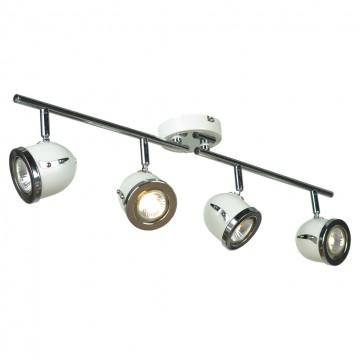 Потолочный светильник с регулировкой направления света Lussole Loft Tivoli LSN-3119-04, IP21, 4xGU10x50W, белый, хром, металл