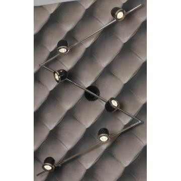 Потолочный светильник с регулировкой направления света Lussole Loft Tivoli LSN-3129-06, IP21, 6xGU10x50W, черный, хром, металл