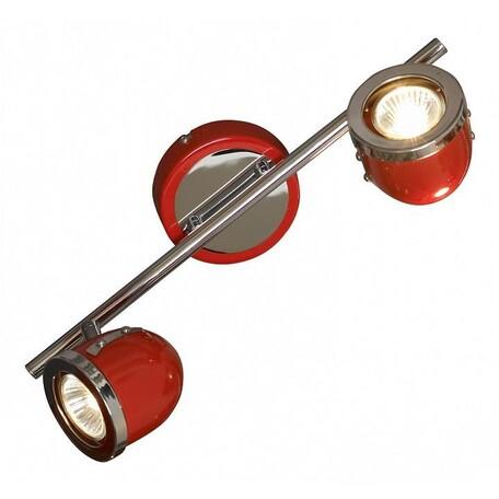 Потолочный светильник с регулировкой направления света Lussole Loft Tivoli LSN-3101-02, IP21, 2xGU10x50W, красный, металл - миниатюра 1