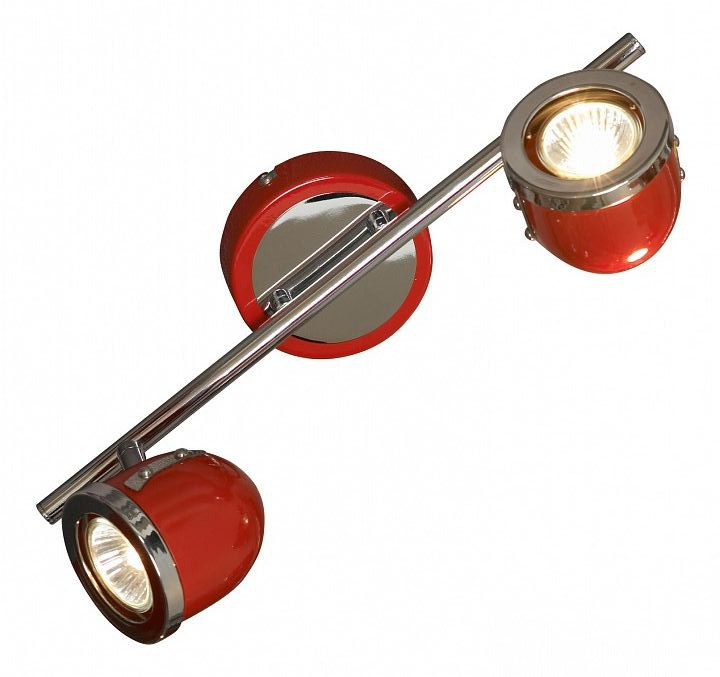 Потолочный светильник с регулировкой направления света Lussole Loft Tivoli LSN-3101-02, IP21, 2xGU10x50W, красный, металл - фото 1