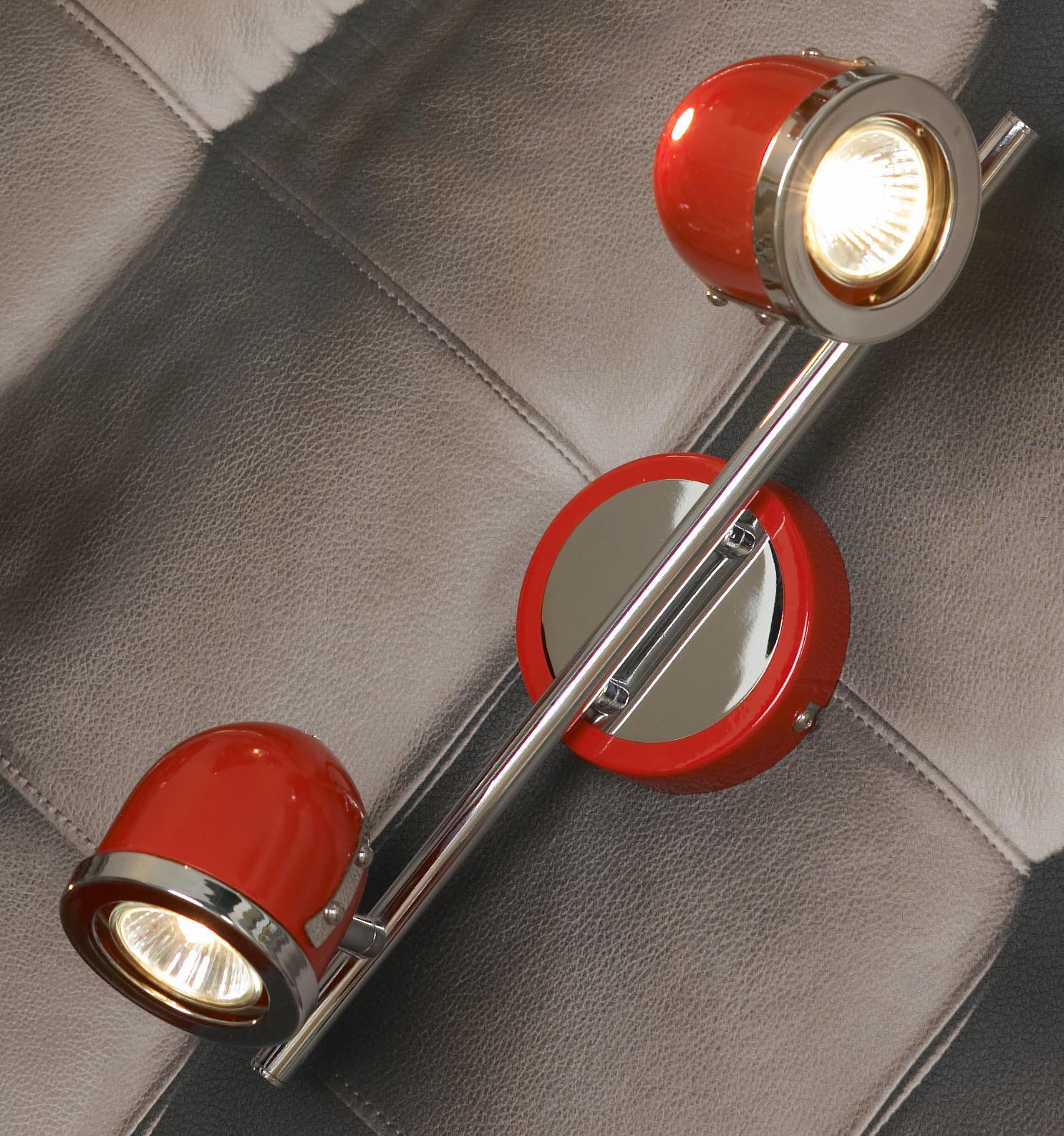 Потолочный светильник с регулировкой направления света Lussole Loft Tivoli LSN-3101-02, IP21, 2xGU10x50W, красный, металл - фото 2