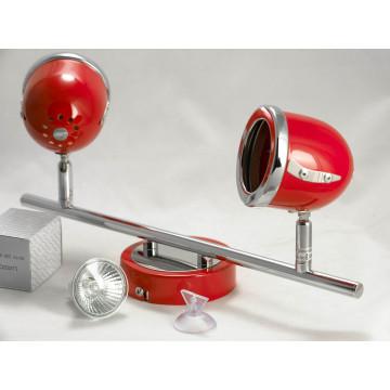 Потолочный светильник с регулировкой направления света Lussole Loft Tivoli LSN-3101-02, IP21, 2xGU10x50W, красный, металл - миниатюра 4