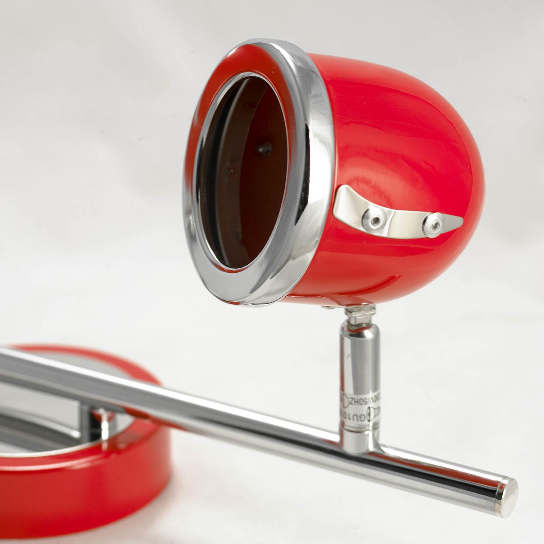 Потолочный светильник с регулировкой направления света Lussole Loft Tivoli LSN-3101-02, IP21, 2xGU10x50W, красный, металл - фото 5