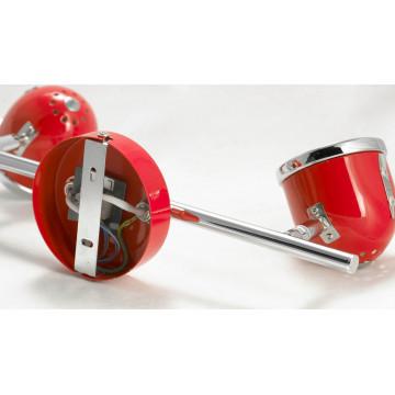Потолочный светильник с регулировкой направления света Lussole Loft Tivoli LSN-3101-02, IP21, 2xGU10x50W, красный, металл - миниатюра 6
