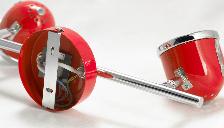 Потолочный светильник с регулировкой направления света Lussole Loft Tivoli LSN-3101-02, IP21, 2xGU10x50W, красный, металл - фото 6