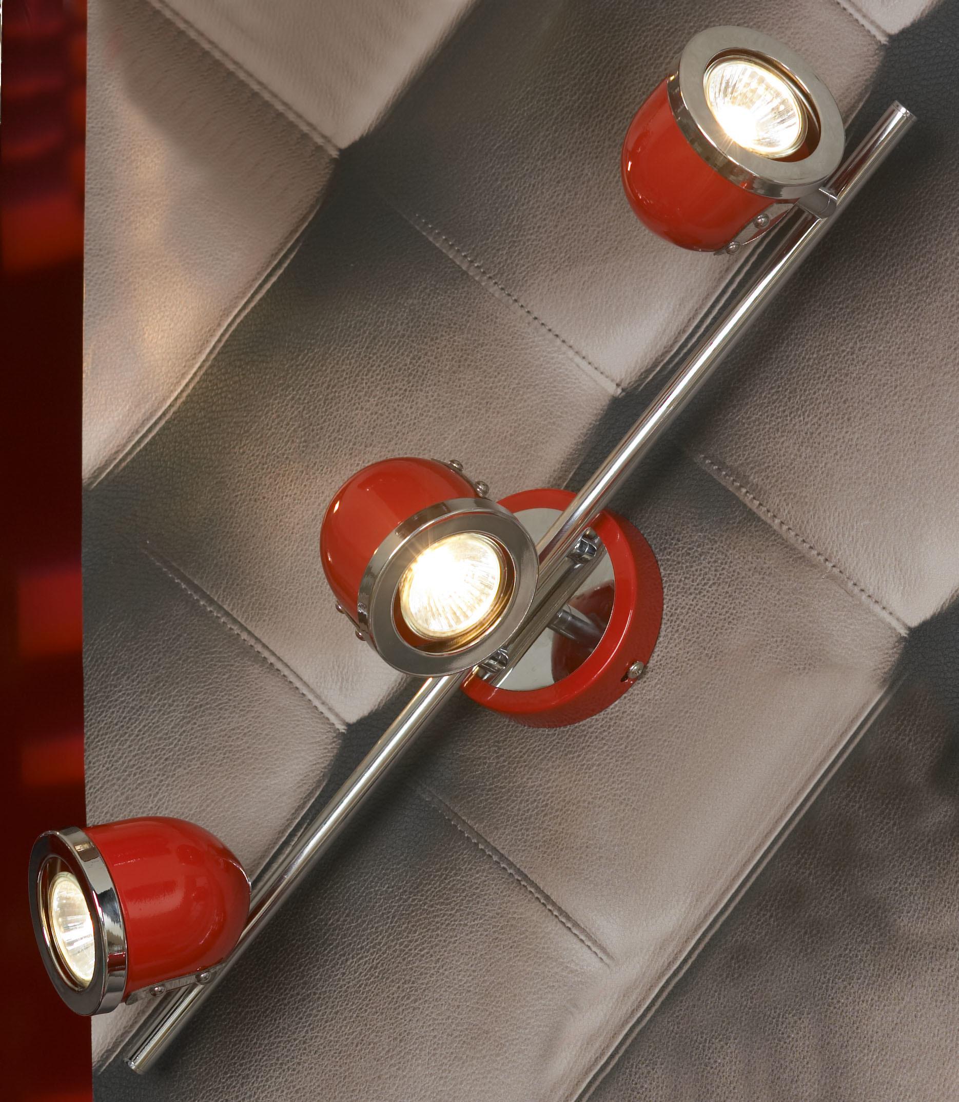Потолочный светильник с регулировкой направления света Lussole Loft Tivoli LSN-3101-03, IP21, 3xGU10x50W, красный, металл - фото 1