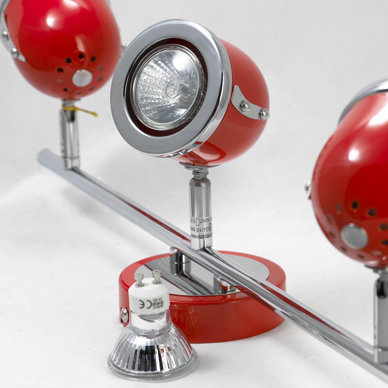 Потолочный светильник с регулировкой направления света Lussole Loft Tivoli LSN-3101-03, IP21, 3xGU10x50W, красный, металл - фото 3