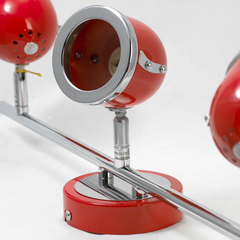 Потолочный светильник с регулировкой направления света Lussole Loft Tivoli LSN-3101-03, IP21, 3xGU10x50W, красный, металл - фото 4