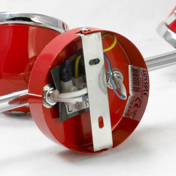Потолочный светильник с регулировкой направления света Lussole Loft Tivoli LSN-3101-03, IP21, 3xGU10x50W, красный, металл - миниатюра 5