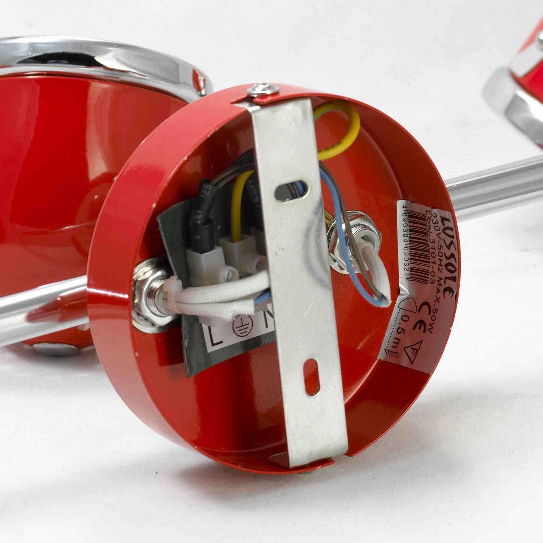Потолочный светильник с регулировкой направления света Lussole Loft Tivoli LSN-3101-03, IP21, 3xGU10x50W, красный, металл - фото 5