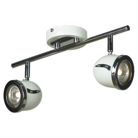 Потолочный светильник с регулировкой направления света Lussole Loft Tivoli LSN-3111-02, IP21, 2xGU10x50W, белый, хром, металл