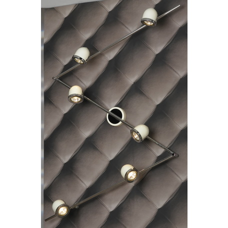 Потолочный светильник с регулировкой направления света Lussole Loft Tivoli LSN-3119-06, IP21, 6xGU10x50W, белый, хром, металл