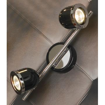 Потолочный светильник с регулировкой направления света Lussole Loft Tivoli LSN-3121-02, IP21, 2xGU10x50W, черный, металл