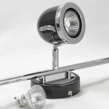 Потолочный светильник с регулировкой направления света Lussole Loft Tivoli LSN-3121-03, IP21, 3xGU10x50W, черный, металл - миниатюра 4