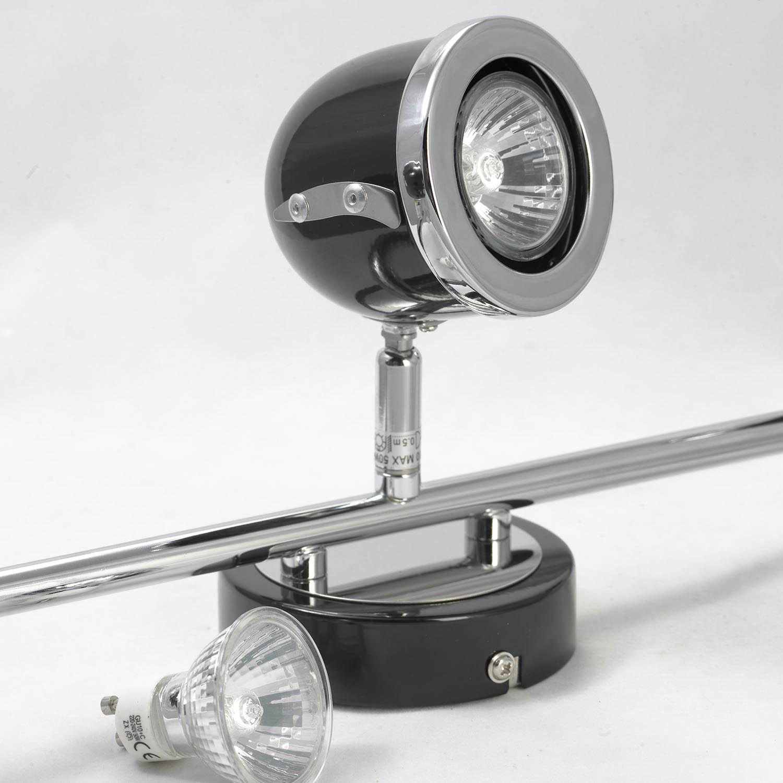 Потолочный светильник с регулировкой направления света Lussole Loft Tivoli LSN-3121-03, IP21, 3xGU10x50W, черный, металл - фото 4