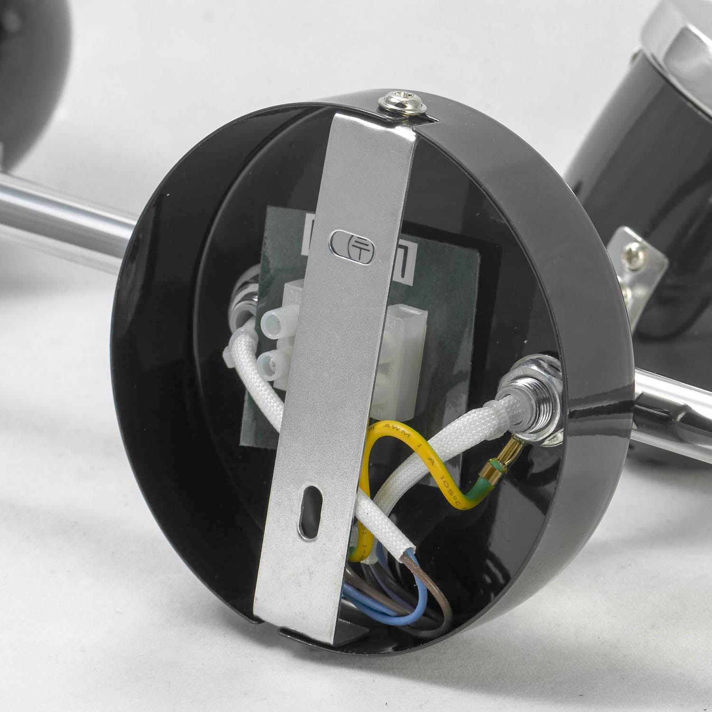 Потолочный светильник с регулировкой направления света Lussole Loft Tivoli LSN-3121-03, IP21, 3xGU10x50W, черный, металл - фото 6